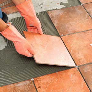 step procedure to install tile flooring