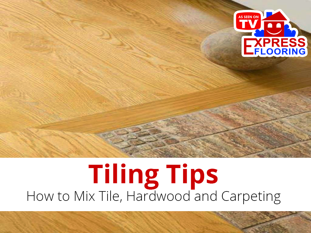 how to mix tile hardwood and carpeting