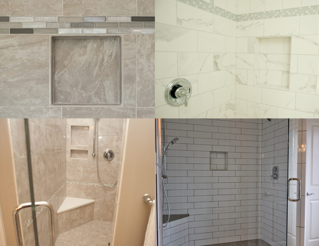a look at the tile shower niche