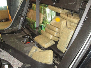 Meth behind passenger backrest, Sept. 15