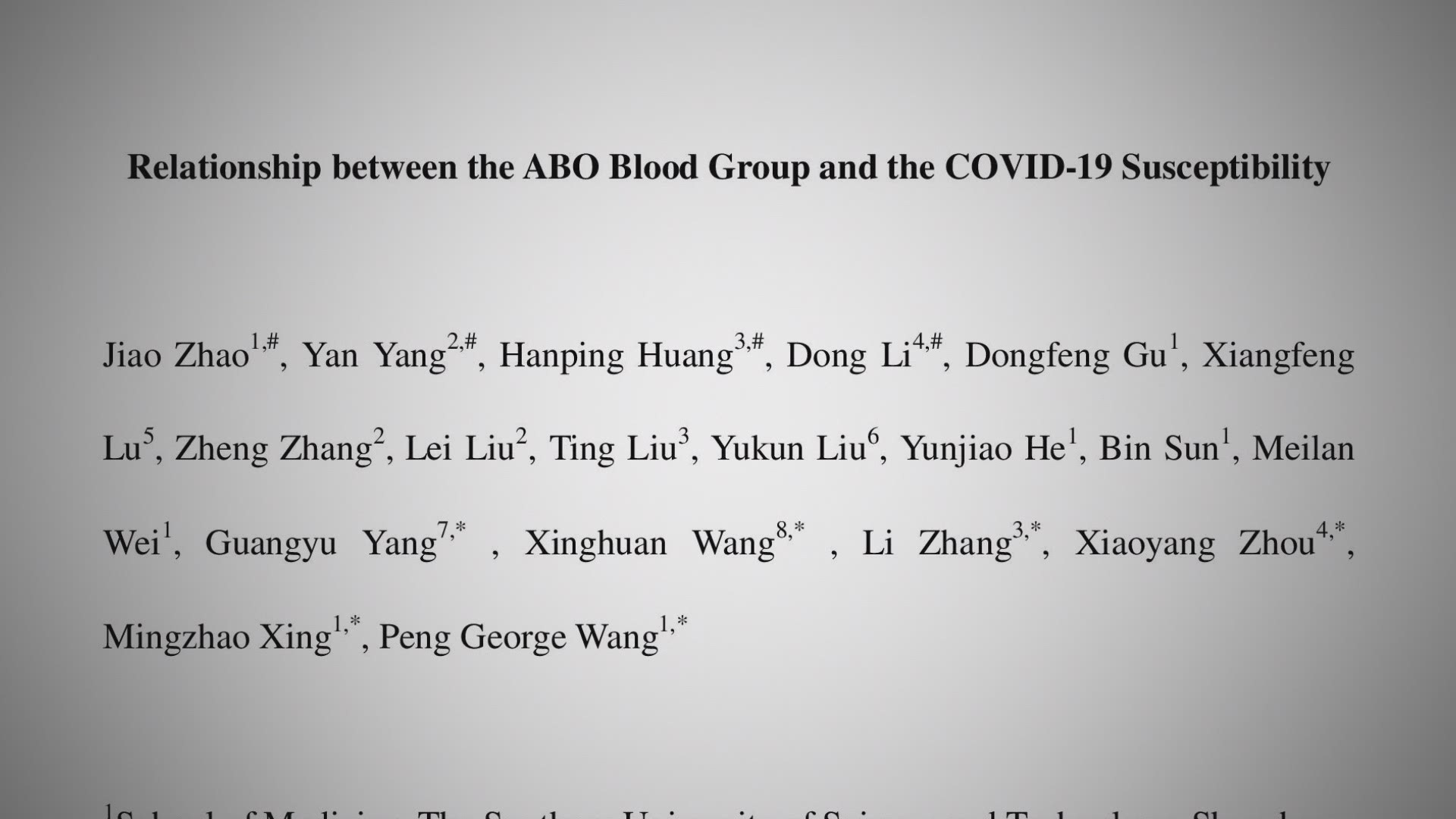 Verify The Research On Blood Types And Covid Severity