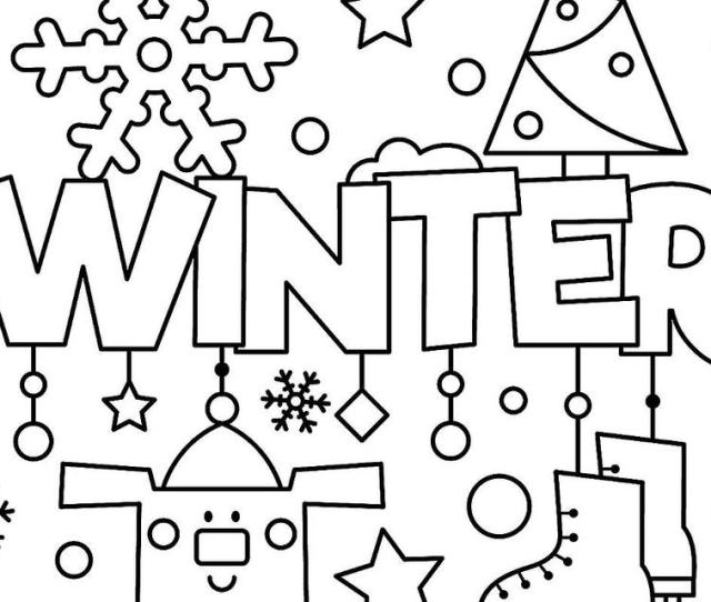 Winter Puzzle Coloring Pages Printable Winter Themed Activity