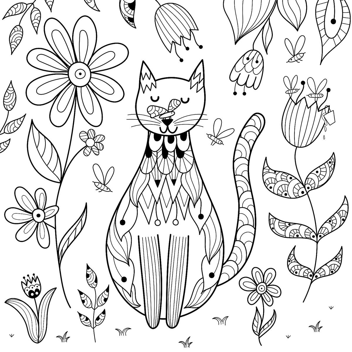 Free Cat Coloring Pages Purr Fect Printable Coloring Pages Of Cats For Cat Lovers Of All Ages Printables 30seconds Mom