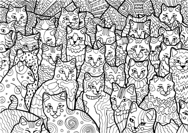 Free Cat Coloring Pages: Purr-fect Printable Coloring Pages of