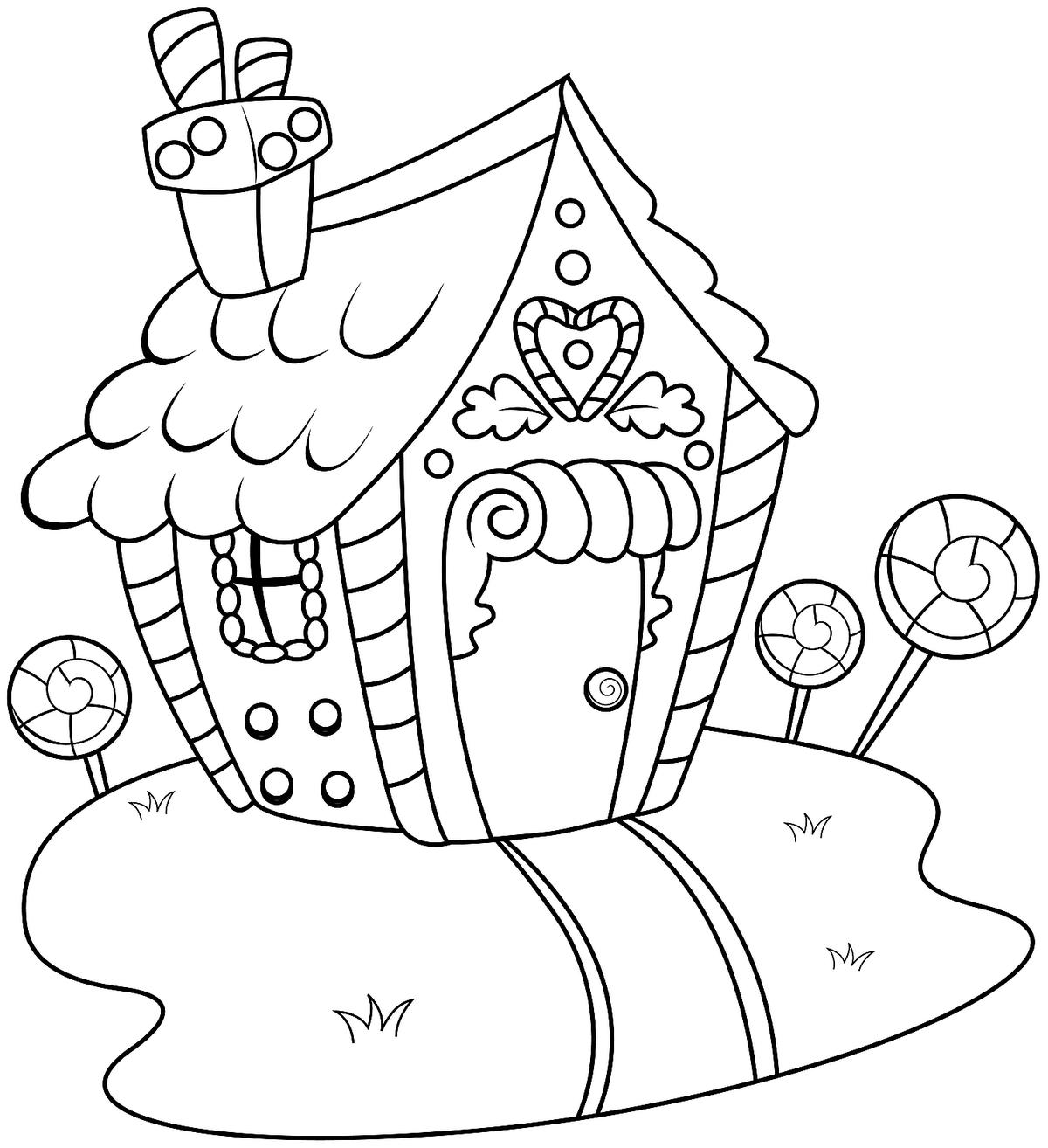 Gingerbread House Coloring Pages Printable Coloring Activity Amp Game Pages Featuring