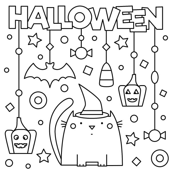 free halloween printable coloring pages # 22