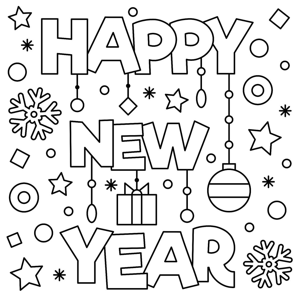 New Year Amp January Coloring Pages Printable Fun To Help Kids Welcome