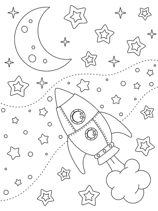 Outer Space Coloring Pages for Kids: Fun & Free Printable Coloring