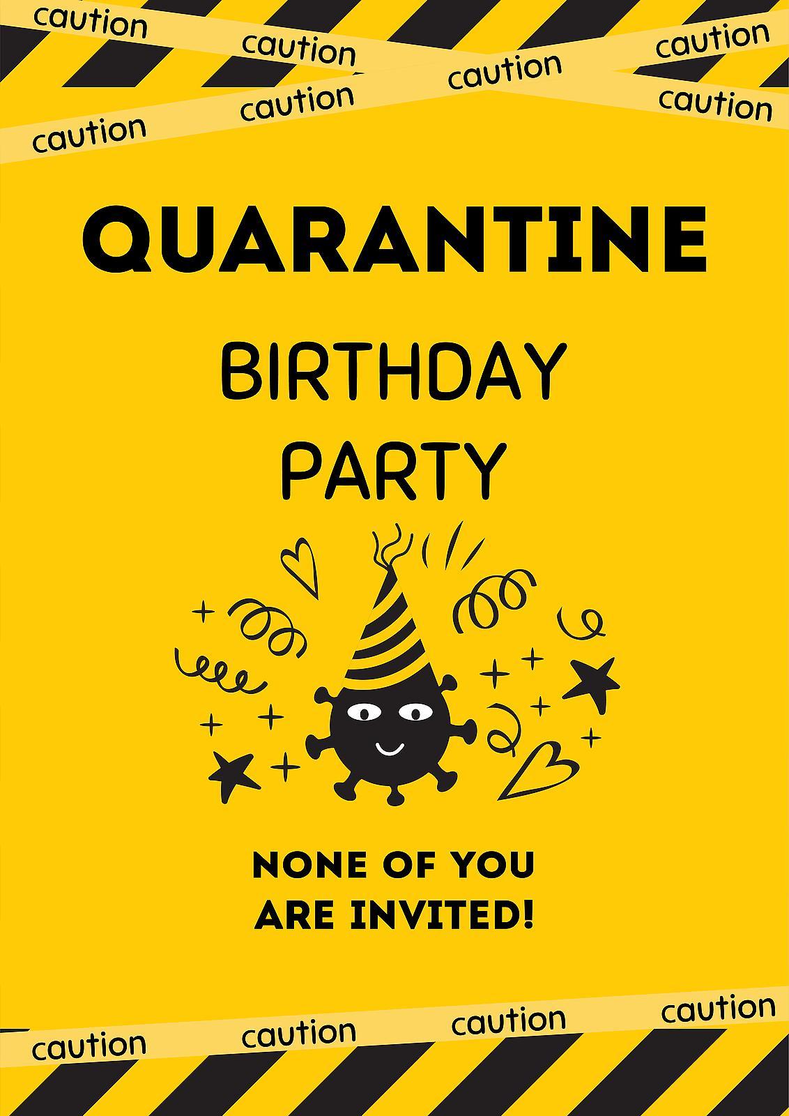 quarantine birthday party free