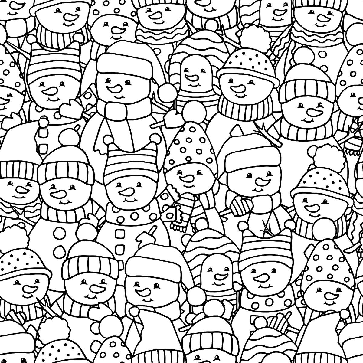 Snowman Coloring Pages For Kids Amp Adults 10 Printable