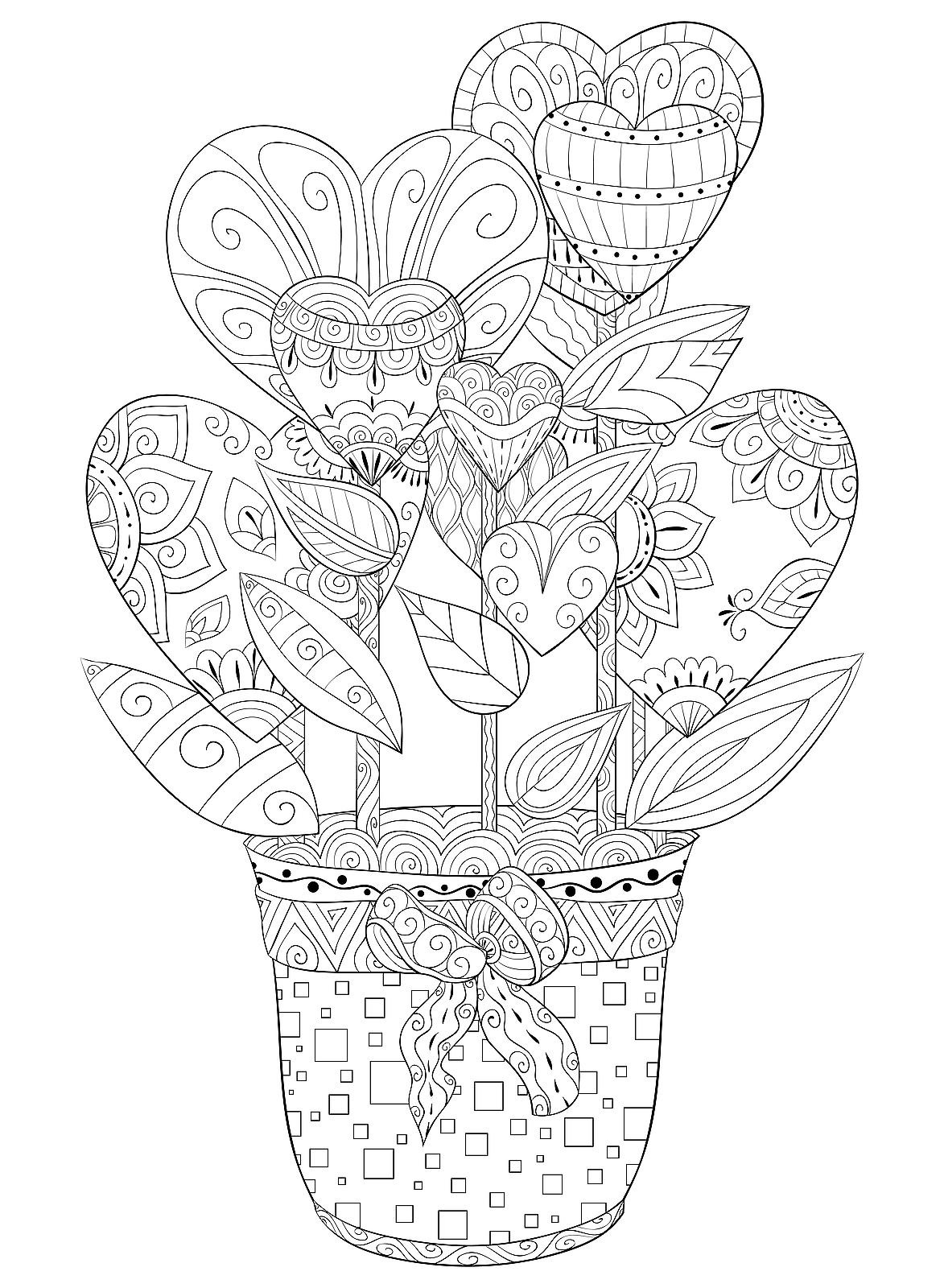 Valentine S Day Coloring Pages Heart Amp Love Themed