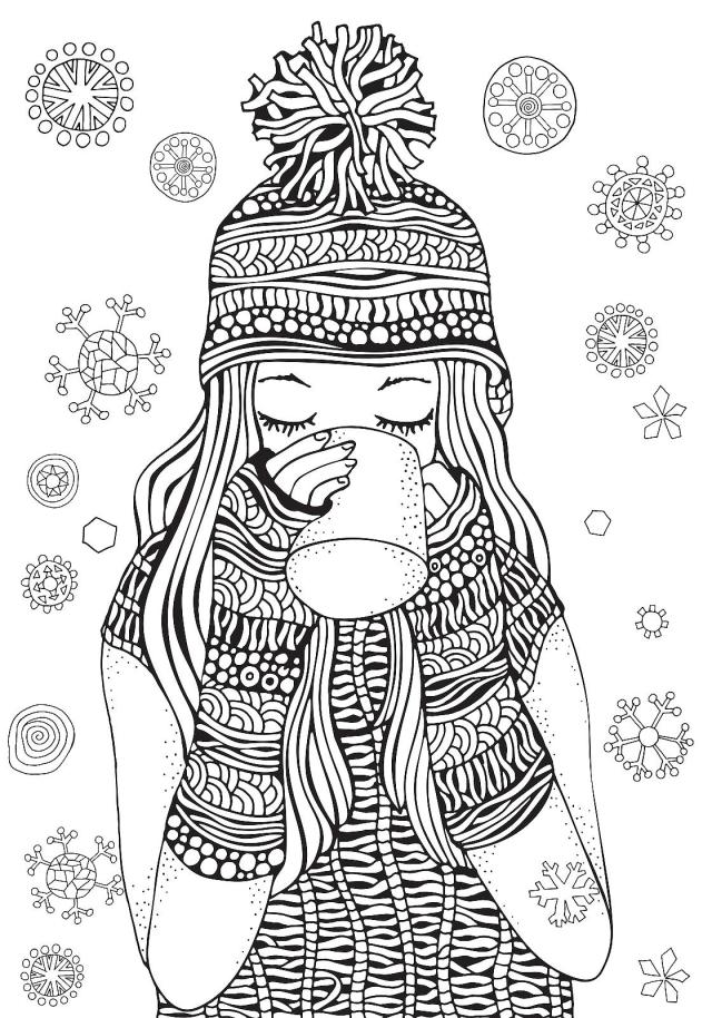 Winter Puzzle & Coloring Pages: Free Printable Winter-Themed