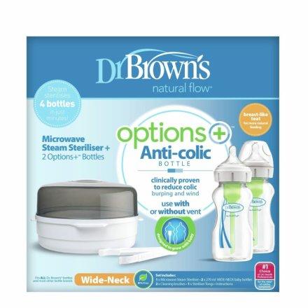 buy dr brown s options microwave steriliser and baby bottle set bottle sterilisers argos