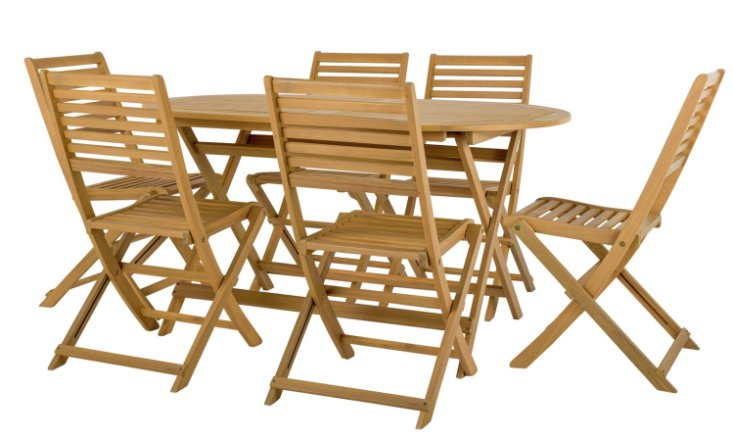 buy argos home newbury 6 seater wooden patio set light wood patio sets argos