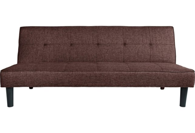 buy habitat patsy 2 seater fabric clic clac sofa bed brown sofa beds argos