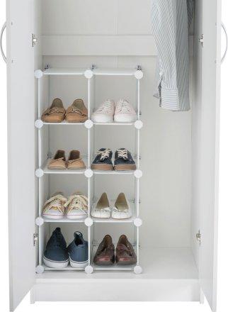 buy argos home 8 interlocking shoe storage boxes white shoe storage argos