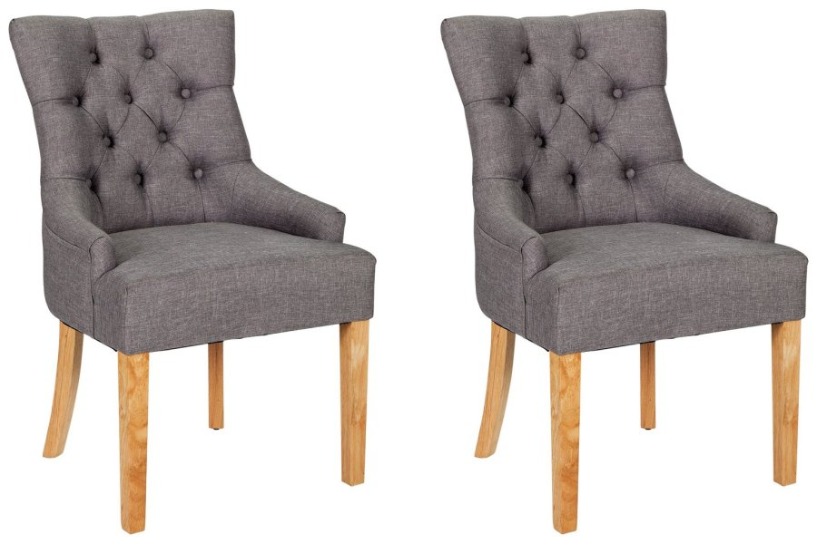 Buy Argos Home Pair of Cherwell Dining Chairs   Charcoal   Dining     Argos Home Pair of Cherwell Dining Chairs   Charcoal