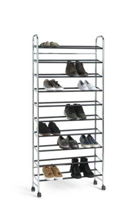 buy habitat 10 shelf rolling shoe storage rack chrome shoe storage argos