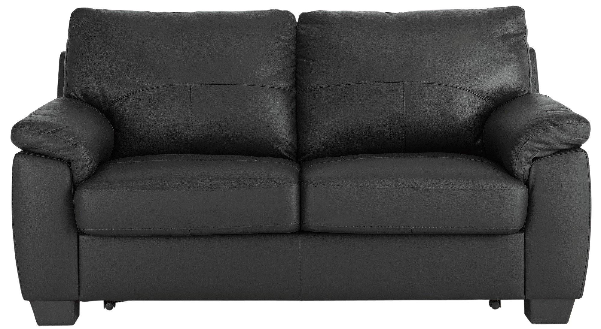 Argos Home Logan 2 Seater Faux Leather Sofa Bed Black 3957600 Argos Price Tracker Pricehistory Co Uk