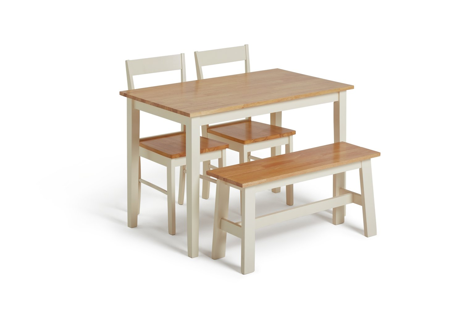 SALE On Collection Chicago Solid Wood Table, Bench & 2