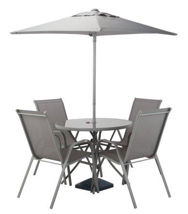 buy argos home sicily 4 seater patio set grey patio sets argos