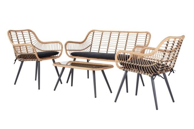 buy argos home 4 seater bamboo sofa set patio sets argos