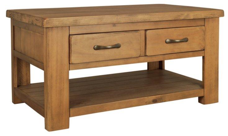 buy argos home arizona 2 drawer 1 shelf solid pine coffee table coffee tables argos