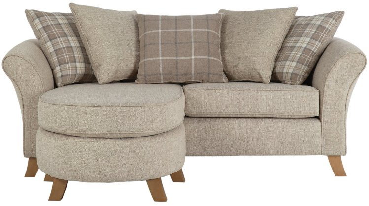 buy argos home kayla 3 seater scatter back chaise beige sofas argos