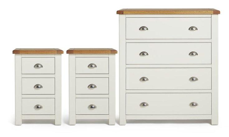 buy habitat kent 2 bedsides 4 drawer set cream oak bedroom furniture sets argos