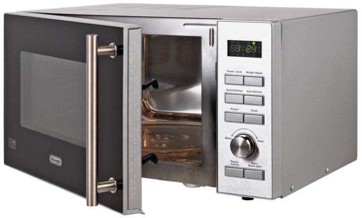 buy de longhi 900w standard microwave p90d stainless steel microwaves argos