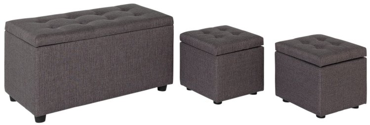 buy argos home wendover fabric ottoman with stools grey ottomans argos