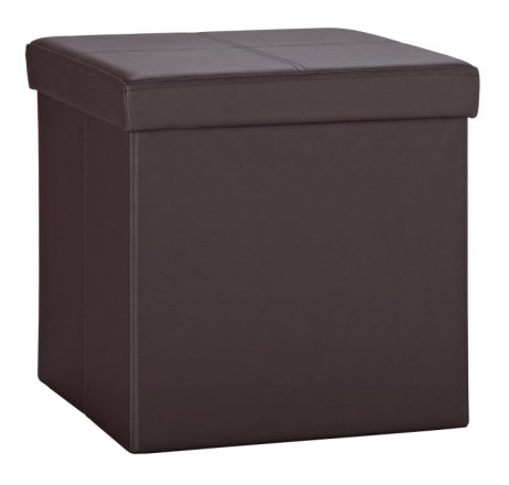 buy argos home small faux leather stitched ottoman brown ottomans argos