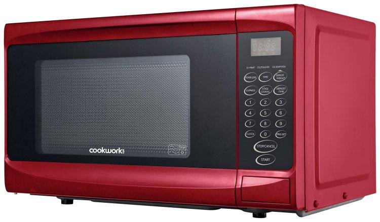 buy cookworks 700w standard microwave p70b red microwaves argos