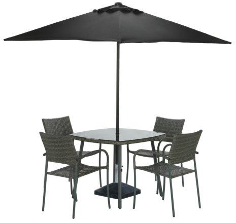 buy argos home cusco rattan 4 seater dining set grey patio sets argos