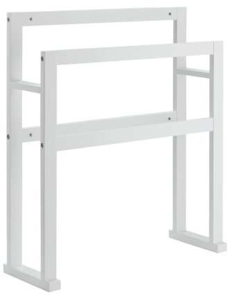 buy argos home 4 rail wooden freestanding towel stand white towel rails and rings argos