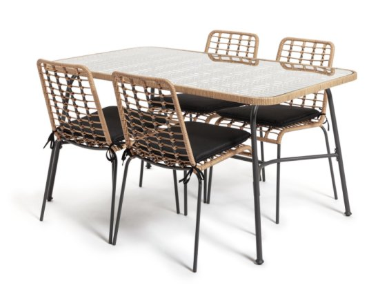 buy habitat 4 seater bamboo patio set patio sets argos