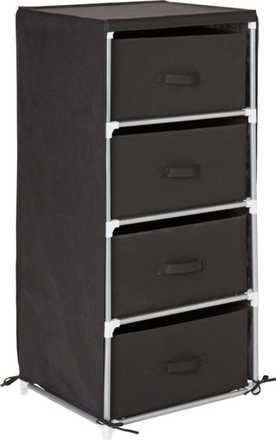 Buy HOME Metal And Polycotton 4 Drawer Storage Unit