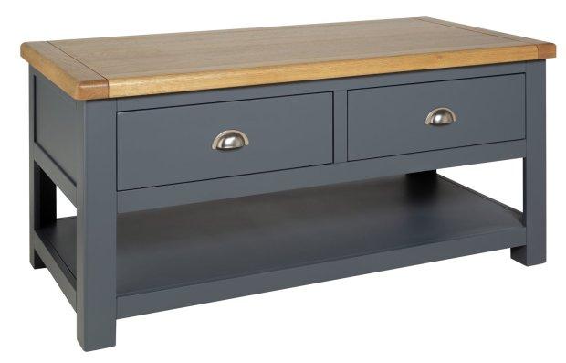buy habitat kent 2 drawer oak oak veneer coffee table grey coffee tables argos