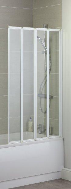 buy croydex 4 fold bath screen white glass shower screens enclosures and trays argos