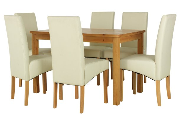 Buy HOME Lincoln Solid Wood Table Amp 6 Skirted Chairs