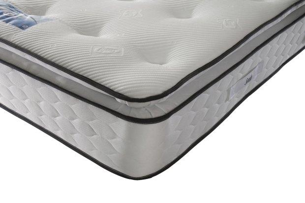 buy sealy 1400 pocket sprung memory pillowtop double mattress mattresses argos