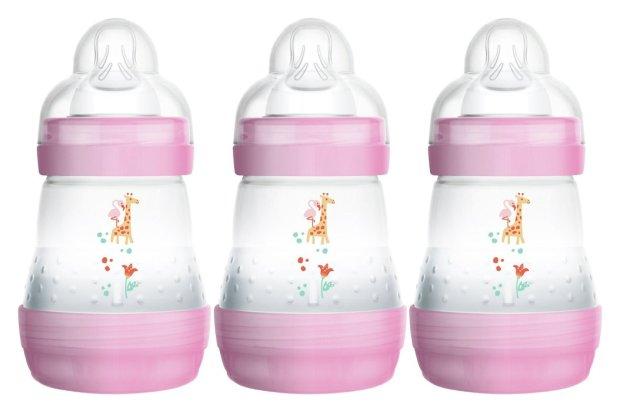 buy mam easy start anti colic 160ml bottle 3 pack pink baby bottles argos