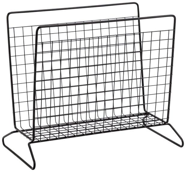 buy argos home metal wire magazine rack black shower and bath storage argos