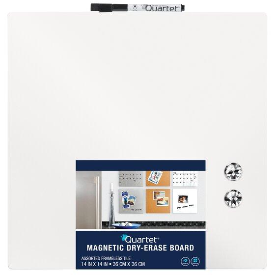 quartet magnetic dry erase board tiles