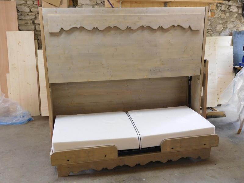escamotable teinte vieux bois
