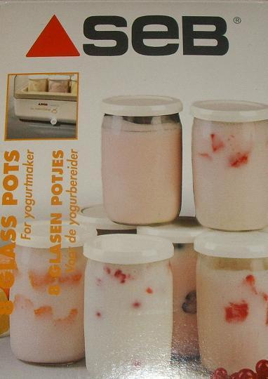 pots en verre la yaourtiere seb couvercles lot de 8 yaourts