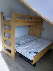 lits superposes et bois de lit