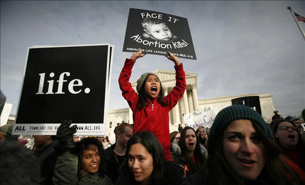 prolife girl at Supreme Court