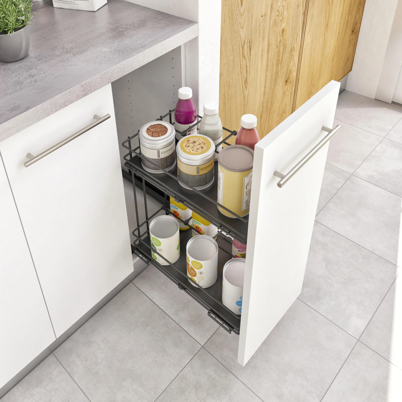 Zoccolo per cucine in pvc, utilizzato per chiudere gli spazi tra pavimento e basi cucina, compreso di guarnizione sul pavimento per evitare infiltrazioni d acqua e di polvere. Organizzazione E Accessori Cucina Leroy Merlin