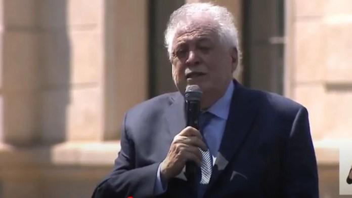 Ginés González García durante la presentación del Detectar en Santa Fe.
